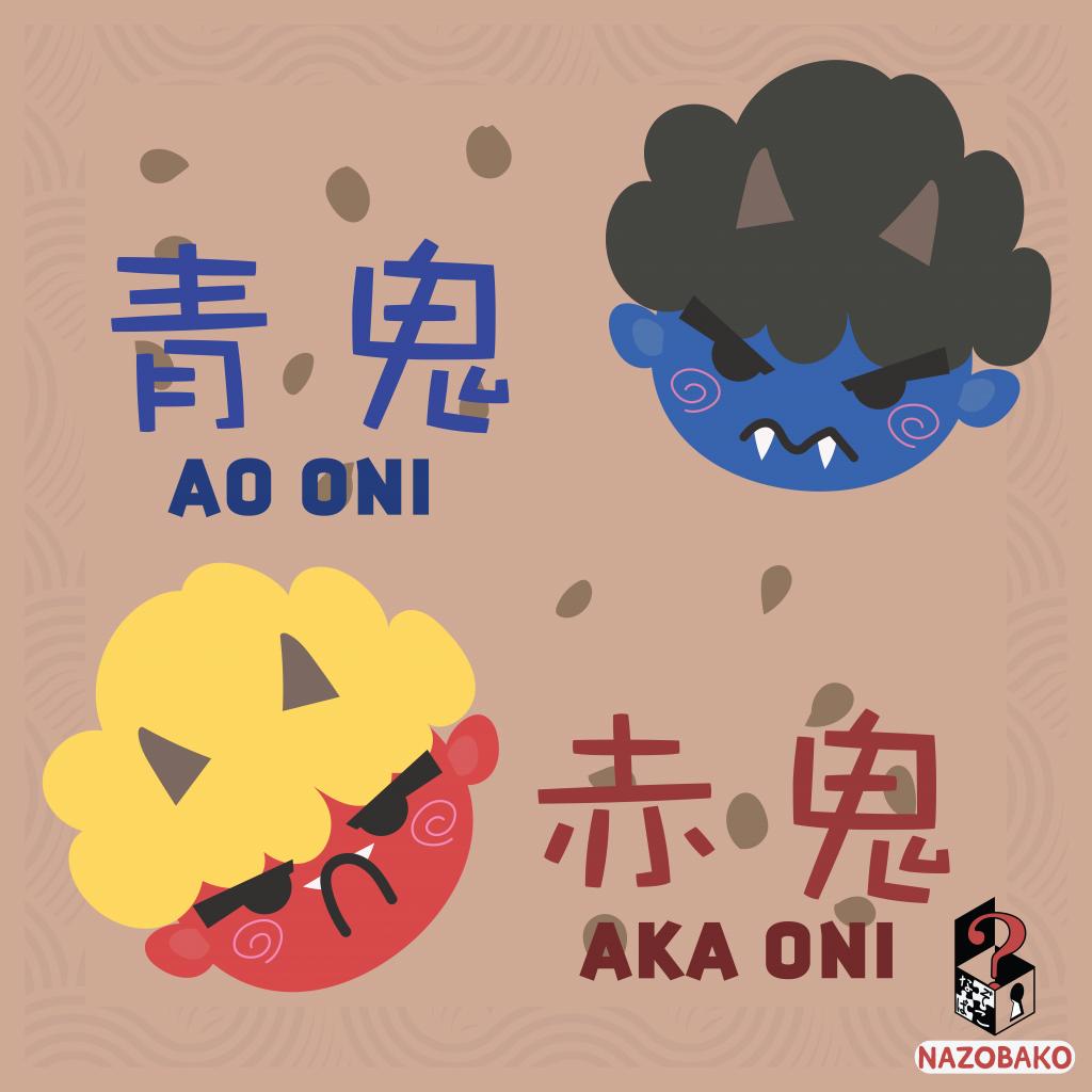 Japanese demons for Setsubun